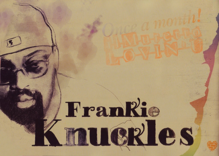 Poster with Frankie Knuckles' portrait