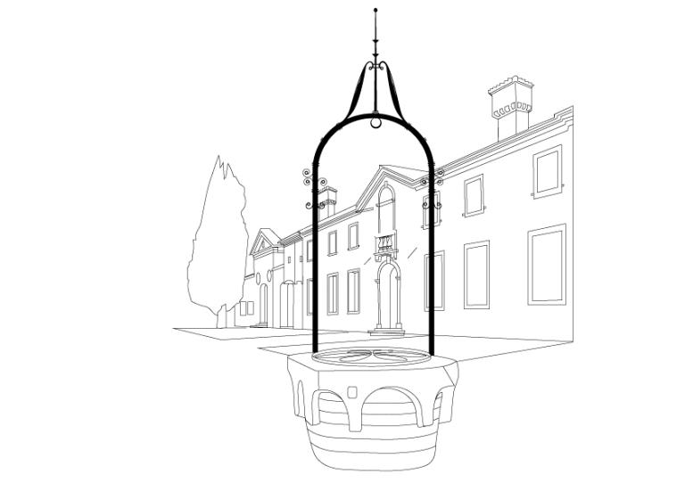 Villa Beatrice D'Este vector illustration