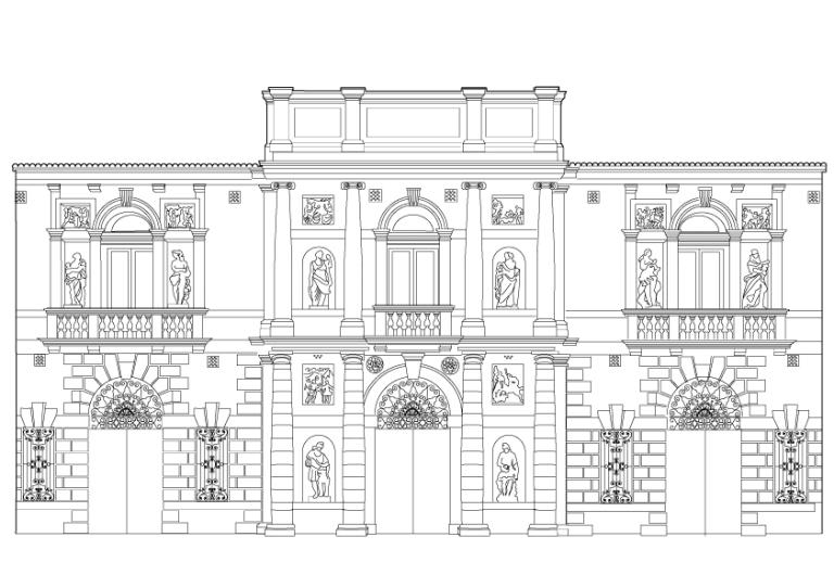 Villa Duodo vector illustration